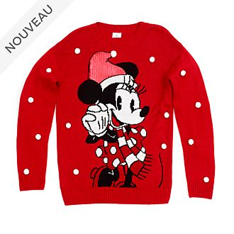 Disney Store Pull de Noël Minnie pour adultes, collection Holiday Cheer