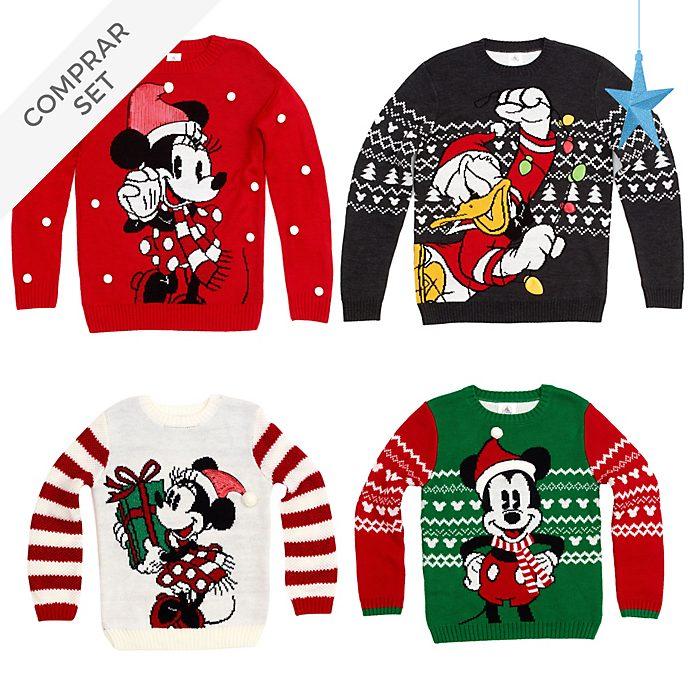Colección navideña de jerséis y collares para toda la familia, Mickey y sus amigos, Disney Store