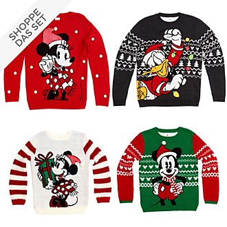 Disney Store - Micky und Freunde - Christmas Family Loungewear Collection - Pullover und Halskette