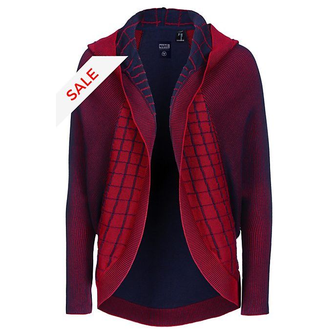 Musterbrand Spider-Man Adults' Hooded Cardigan