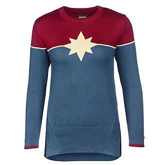 Musterbrand Sweatshirt Captain Marvel ras-du-cou pour adulte