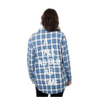 Cakeworthy Belle Flannel Shirt For Adults, Beauty and the Beast