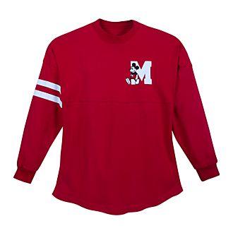 Sudadera universitaria roja Mickey Mouse para adultos, Spirit Jersey, Disney Store