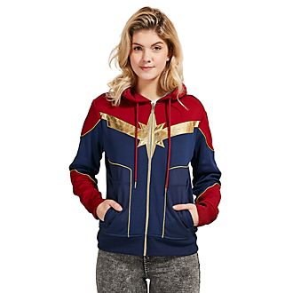 Disney Store Captain Marvel Costume Hooded Sweatshirt For Adults
