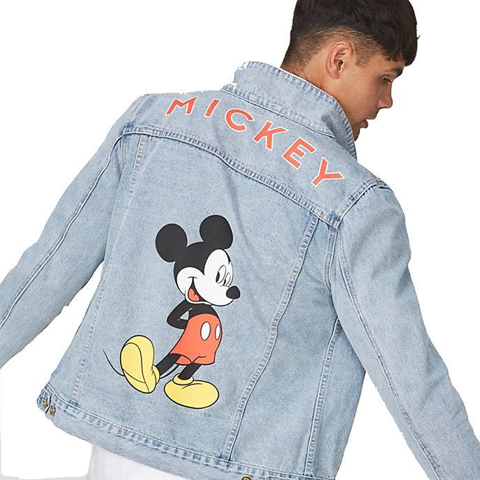 Typo Mickey Mouse Denim Jacket For Adults
