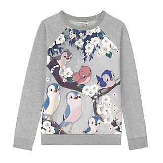 CathKidston x Disney BlancheNeige Sweatshirt pour femme orné d'oiseaux chanteurs