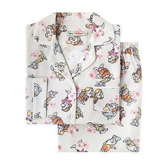 Cath Kidston x Disney - Schneewittchen - Pyjama mit Zwerge- und Blütenmuster für Damen