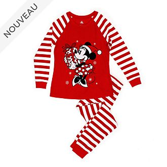 Disney Store Pyjama Minnie pour femmes, collection Holiday Cheer