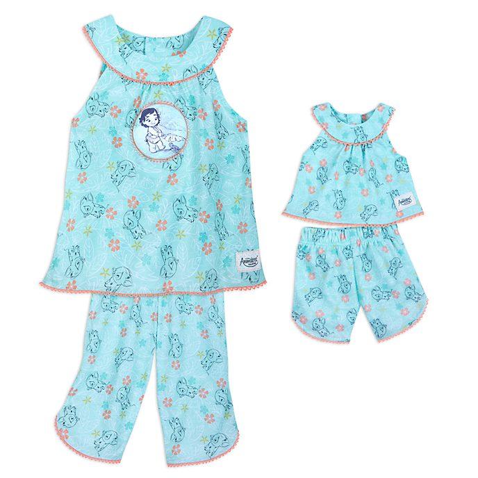Disney Store Disney Animators' Collection Moana Pyjama Sets For Kids And Doll