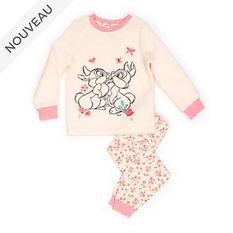 Disney Store Pyjama doux Pan Pan et Miss Bunny pour enfants