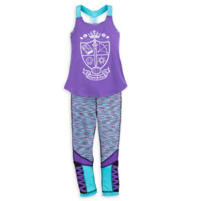 Conjunto infantil de camiseta y leggings de yoga de princesa Disney