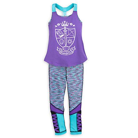 Set yoga maglietta e leggings bimbi Principesse Disney