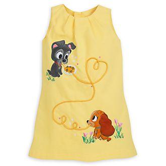 Vestido infantil Furrytale Friends de La Dama y el Vagabundo, Disney Store