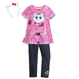 Disney Store Marie Furrytale Friends Dress and Leggings Set