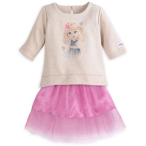 Ensemble pull et jupe Cendrillon pour enfants, Collection Disney Animators