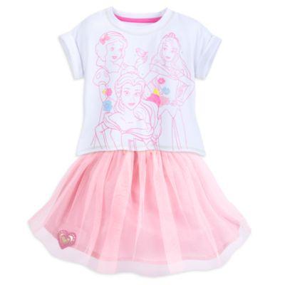 Ensemble top et jupe Disney Princesses pour enfants