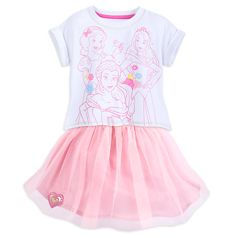 Disney Princess Top and Skirt Set For Kids