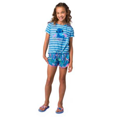 Conjunto infantil camiseta y pantalones cortos Stitch