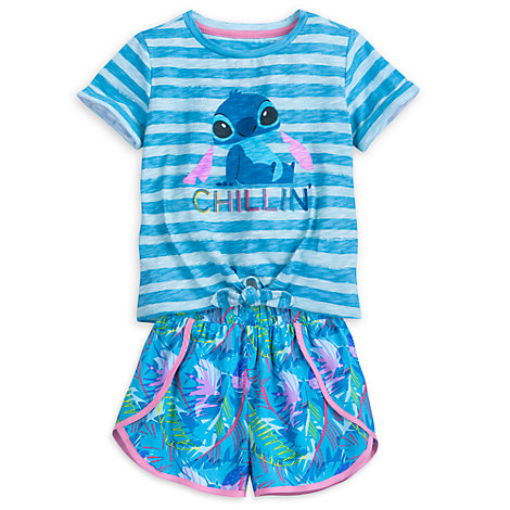 Stitch Top and Shorts Set For Kids