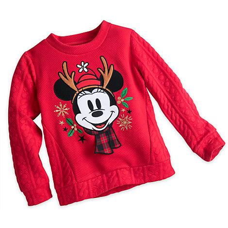 Share the Magic - Minnie Maus - Weihnachtliches Sweatshirt für Kinder