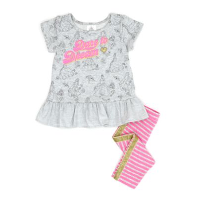 Multi Princess Top and Legging Set For Kids