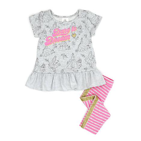 Multi Princess Top and Legging Set For Kids