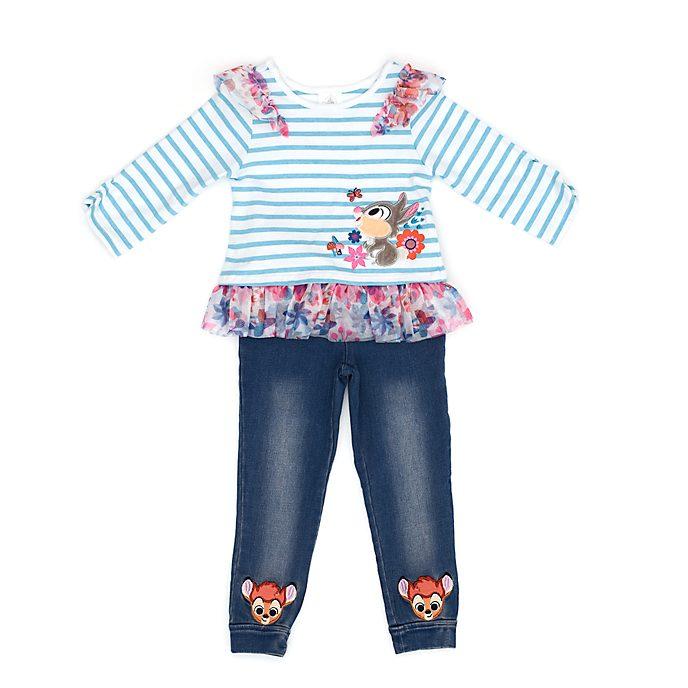 Conjunto infantil camiseta y jeggings Bambi, Disney Store
