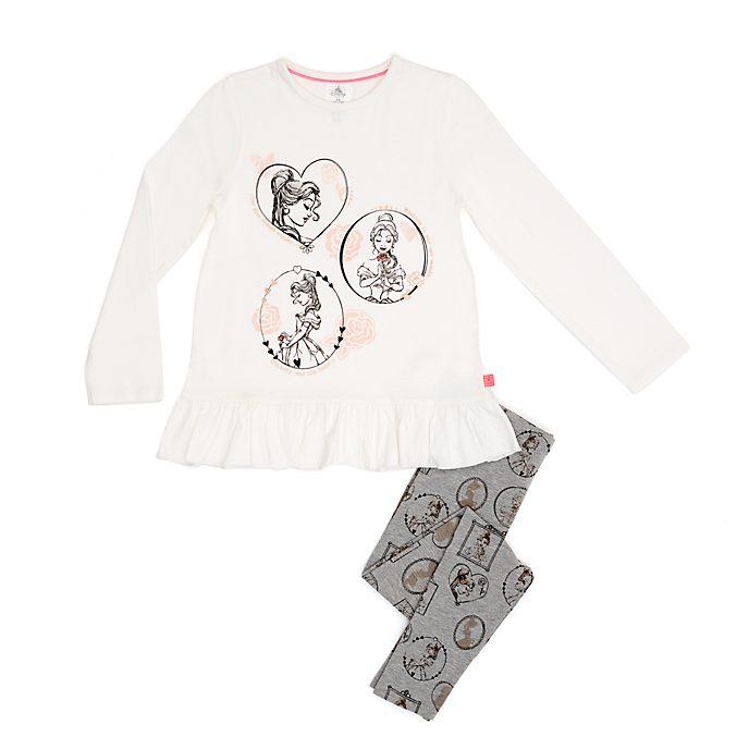 Conjunto infantil de leggings y camiseta Bella