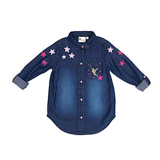 Disney Store Tinker Bell Denim Shirt For Kids