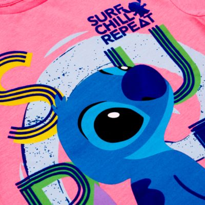 Camiseta infantil surf de Stitch