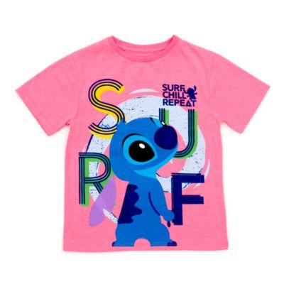 Stitch Surf T-Shirt For Kids