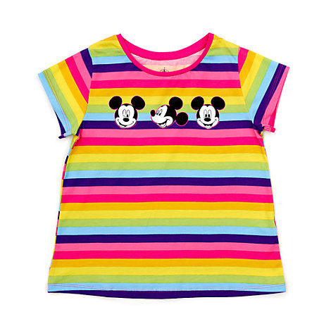 Mickey Mouse Striped T-Shirt For Kids