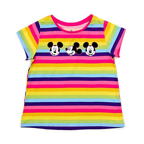 Camiseta infantil de rayas de Mickey Mouse