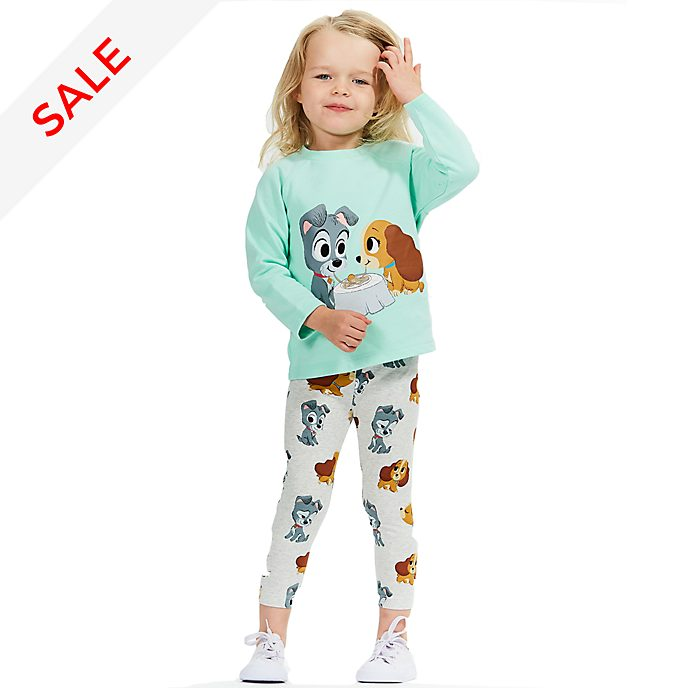 Disney Store Lady and the Tramp Furrytale Friends Sweatshirt and Leggings For Kids