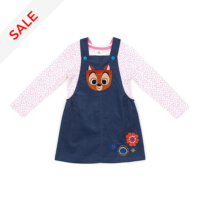 Disney Store Bambi Furrytale Friends Pinafore Set For Kids