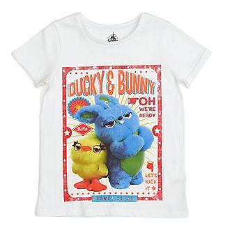 Disney Store T-shirt Ducky et Bunny pour enfants, Toy Story4