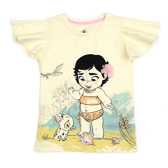 Disney Store T-shirt Vaiana pour enfants, collection Disney Animators