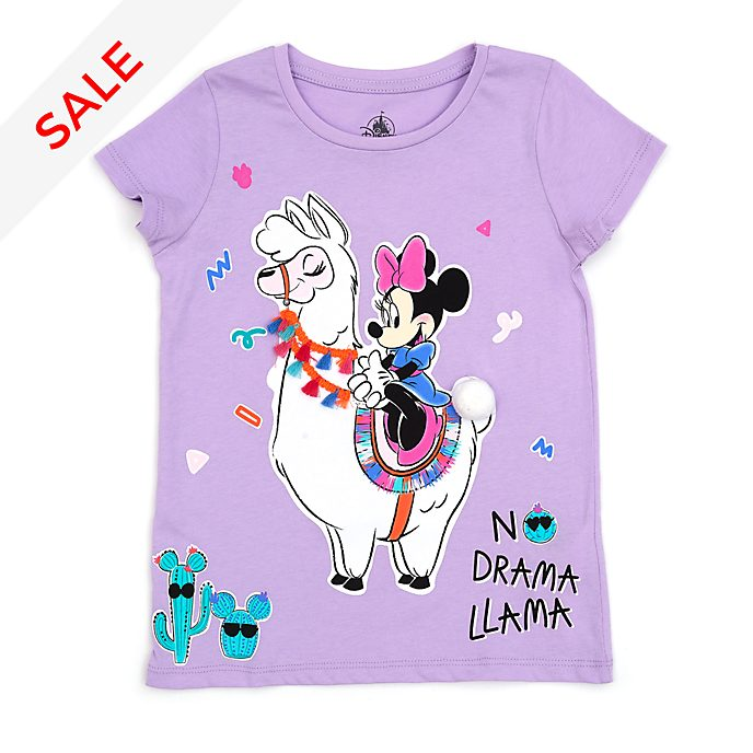 Disney Store Minnie Mouse Llama T-Shirt For Kids
