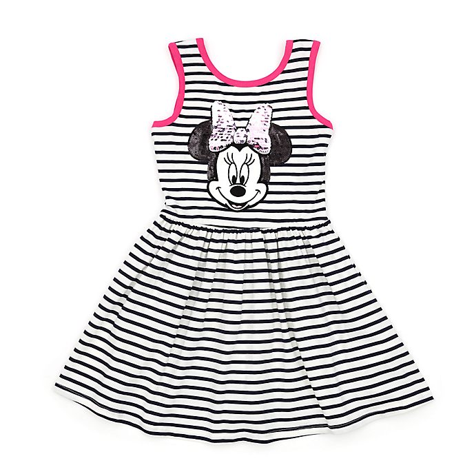 Disney Store Minnie Mouse Reversible Sequin Dress For Kids