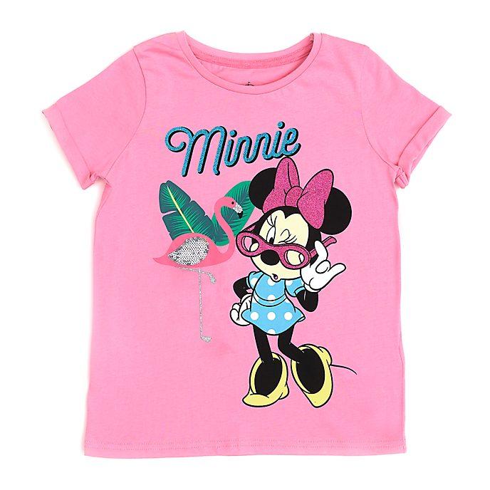 Disney Store T-shirt Minnie flamand rose pour enfants