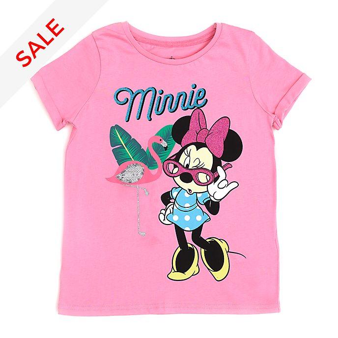 Disney Store Minnie Mouse Flamingo T-Shirt For Kids