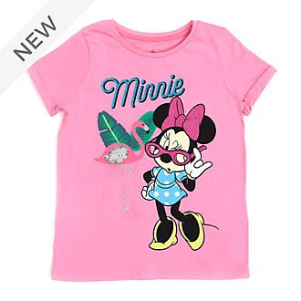 Disney Store Minnie Mouse Flamingo T-Shirt For Kids