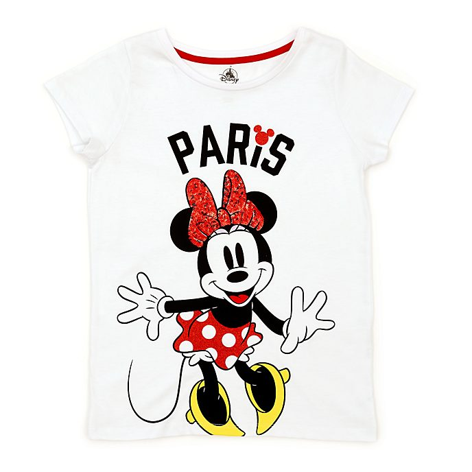Disney Store T-shirt Minnie Paris pour enfants