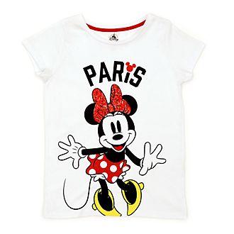 Camiseta infantil Paris Minnie Mouse, Disney Store