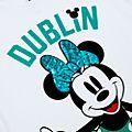 Camiseta infantil Dublin Minnie Mouse, Disney Store