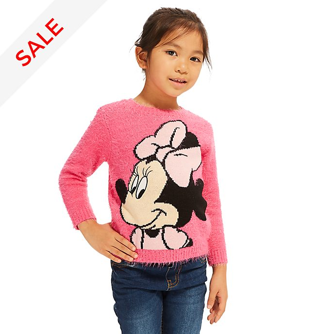 Disney Store Minnie Mouse Fluffy Jumper For Kids