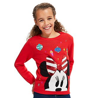 Disney Store Minnie Mouse Share the Magic Christmas Jumper For Kids