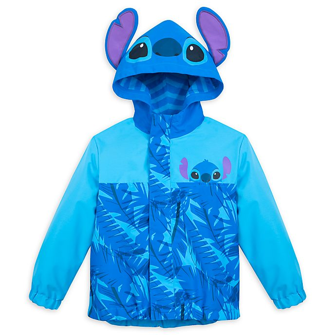 Disney Store Stitch Packable Raincoat For Kids