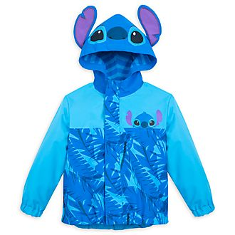 Disney Store Stitch Packable Raincoat For Kids