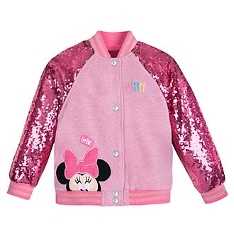 Disney Store Minnie Mouse Varsity Jacket For Kids